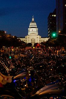 Republic of Texas Biker Rally. Parked motorcycles.jpg