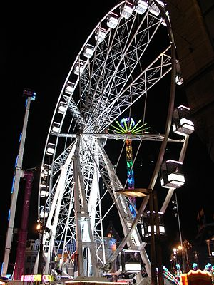 Traveling carnival - A ferris wheel in Amsterdam, Netherlands