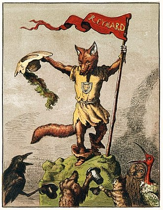 Trickster - The trickster figure Reynard the Fox as depicted in an 1869 children's book by Michel Rodange.