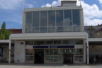 Rissne metro station - Image: Rissne tunnelbanestation, ingång
