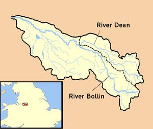 River Bollin - Image: River Bollin catchment area