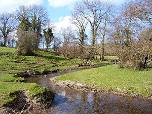 River Unk, Shropshire - River Unk near Cefn Einion