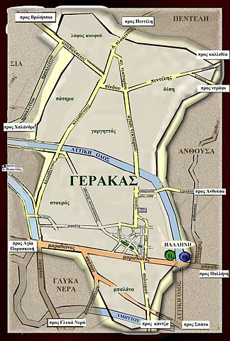 File Road Map Of Gerakas Jpg Wikimedia Commons