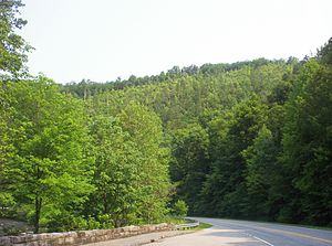 North Carolina - View at end of Cherohala Skyway near Tellico Plains