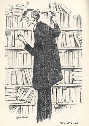 Robert Wilson Lynd - Caricature of Robert Lynd, 1928