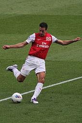 van Persie con la maglia dell'Arsenal nel 2011.