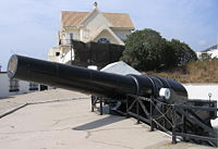 The 100-ton gun at Napier if Magdala Battery