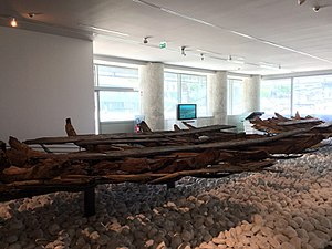 Marseille History Museum - Roman wreck Jules-Verne 4. The wreck is of a 15 m long dredger.