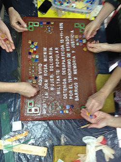 Photo of Rosa Mitnik multicoloured plaque