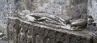 Felim Ua Conchobair - 13th-century effigy of a tomb in the Dominican Priory of St. Mary in Roscommon that supposedly depicts Felim Ua Conchobair who founded the priory in 1253.