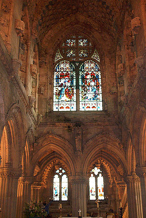 Rosslyn Chapel - Interior of the chapel.