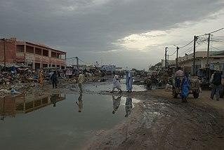 Rosso city in Trarza region, Mauritania