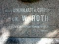 Roth 04 Dresden Albertstadtkaserne, W.A.Roth-Denkmal-Schrift.JPG
