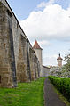 Rothenburg ob der Tauber, Stadtmauer, Klingenschütt, Feldseite, 005.jpg