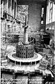Rotor spider on unit no 1 turbine, Gorge Dam Powerhouse, September 17, 1923 (SPWS 229).jpg