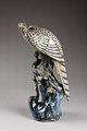 Rovfågel, falk, på trädgren - Hallwylska museet - 96085.tif