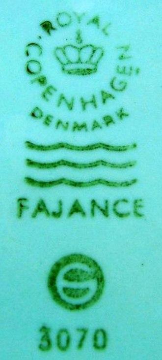 Aluminia - After 1969: The Royal Copenhagen Fajance mark