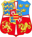 Royal Arms of Norway, Denmark & Sweden (1460-1523).svg