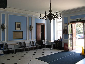 Royal United Hospital - The original hospital foyer, showing 1930 building foundation stone
