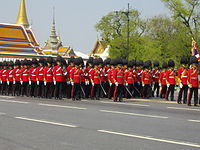 Royal guards from 1st Infantry Regiment in the Royal Funeral Procession of Princess Bejaratana Rajasuda.JPG
