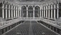 Philharmonie, Unbekannt or see image [Public domain], via Wikimedia Commons