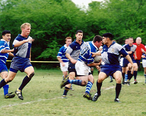 Rugby union in the United States - Air Force and Navy playing a match hosted by the Alamo City RFC (2006)