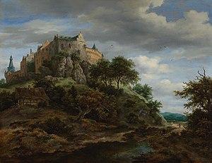 Bentheim Castle - Burg Bentheim by Jacob van Ruisdael (second version)