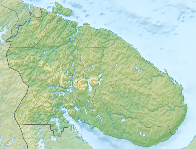 Файл:Russia Murmansk region relief location map.png