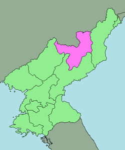 Location of Ryanggang Province