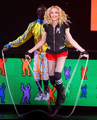 "Madonna jumping rope during the performance of ""Into the Groove"". S&sintothegroovepic2.jpg"