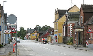Søllested - The small town Søllested located on the island of Lolland in east Denmark.