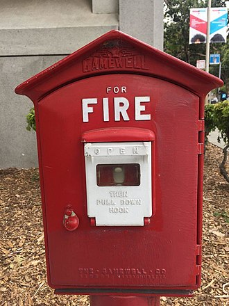 Great Boston Fire of 1872 - A fire alarm box in San Francisco, CA