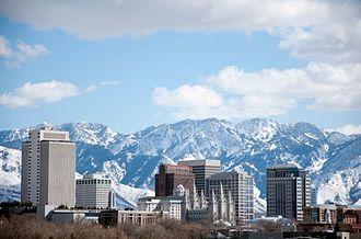 Silicon Slopes - Silicon Slopes' Salt Lake City Winter Skyline