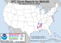 SPC Storm Reports 20050925.png
