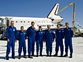 STS-125 Crew after the Landing of Space Shuttle Atlantis (28240992795).jpg