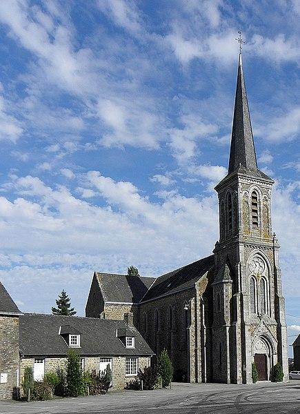 Église de Saint-Georges-Buttavent (53).