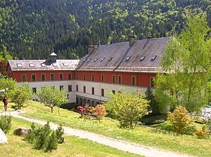 Religion in France - Saint Hugon in Arvillard, Savoie, is a former charterhouse (Carthusian monastery) turned into a monastery of the Tibetan schools of Buddhism (Karma Ling).