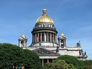 History of modern period domes - Saint Isaac's Cathedral in Russia.