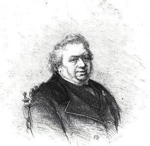 X. B. Saintine - Saintine, engraving by Bocourt