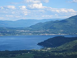 The city of Salmon Arm and Shuswap Lake