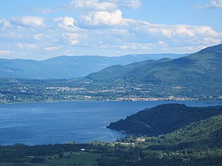 Salmon Arm City in British Columbia, Canada