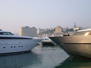 Port of Genoa - The marina of the Exhibition centre, home of the Genoa International Boat Show