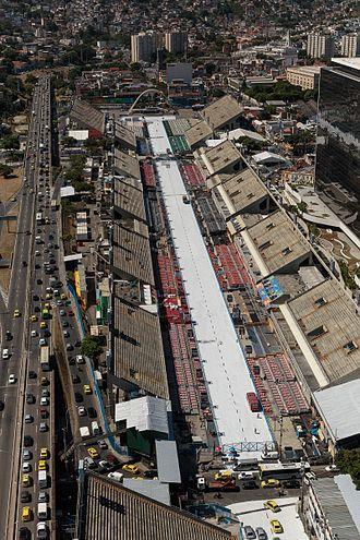 Sambadrome Marquês de Sapucaí - Aerial photo