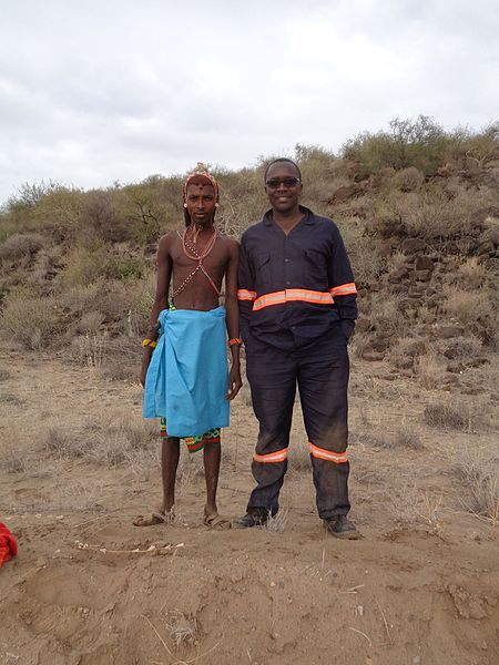 File:Samburu Warrior and a Builder.jpg