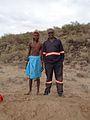 Samburu Warrior and a Builder.jpg