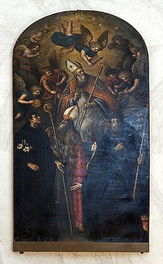 Leandro Bassano - San Agustino in gloria e santi (San Geremia) Venice.