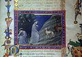 San gimignano, commedia di dante, xiv secolo, canto I (incontro con le 3 fiere), 1350 ca., pluteo 40.3 c1r, 03.JPG
