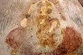 San lorenzo in insula, cripta di epifanio, affreschi di scuola benedettina, 824-842 ca., madonna in trono col bambino e monaco adorante 02.jpg