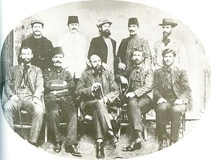 Yane Sandanski - Sandanski, Dimo Hadzhidimov, Todor Panitsa and other Federalists with Young Turks