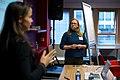 Sandra Fauconnier over fashion edit-a-thons bij de Wikimedia Nederland Conferentie 2013 (10642960115).jpg